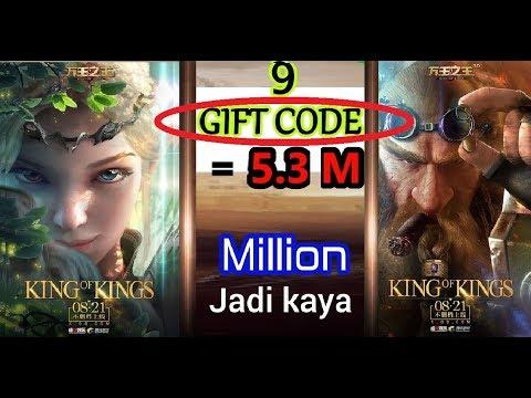 King Of KINGS🔴 FREE 5,3 Juta 9 Buah KODE GIFT  (World Of Warcraft WOW Mobile