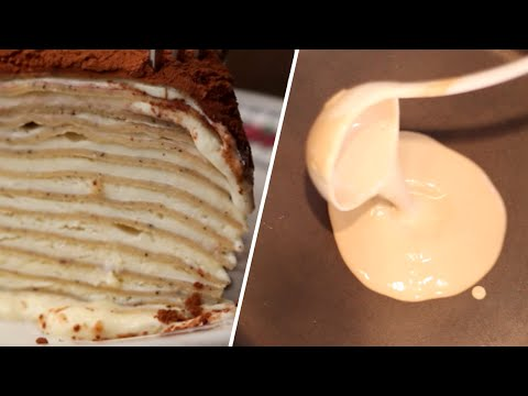 Tiramisu Crepe Cake Review- Buzzfeed Test #48