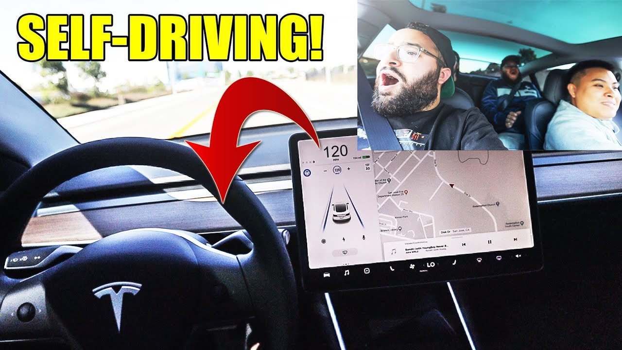 MY FIRST TIME TRYING TESLA AUTOPILOT! (SCARY)
