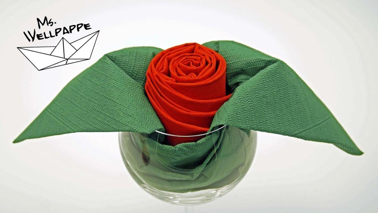 Servietten Falten Rose Tischdeko Fur Hochzeit Valentinstag