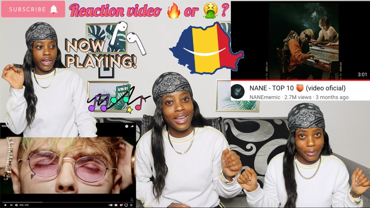NANE – TOP 10 🍑 (video oficial) ROMANIAN RAP REACTION