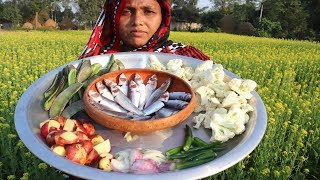 FARM FRESH Bean and Cauliflower Recipe in My Village Cooking Fresh Cauliflower Healthy Village Food