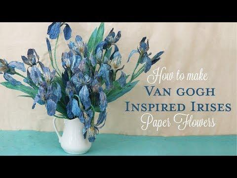DIY Paper Flower Tutorial | Van Gogh Inspired Iris