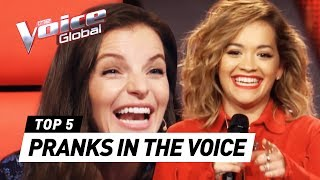 Download Superstars PRANK The Voice coaches with unexpected Audition Mp3 and Videos
