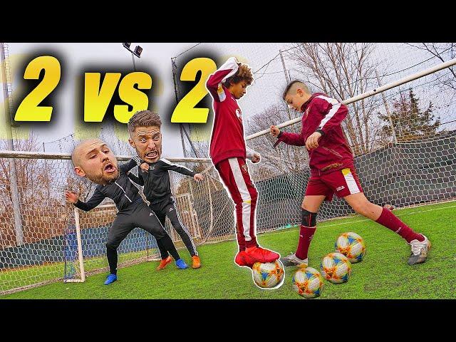 2 VS 2 Dribbling Football CHALLENGE - Tunnel INASPETTATO😱😱