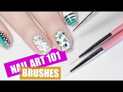 BEST BRUSHES FOR NAIL ART | NAIL ART 101