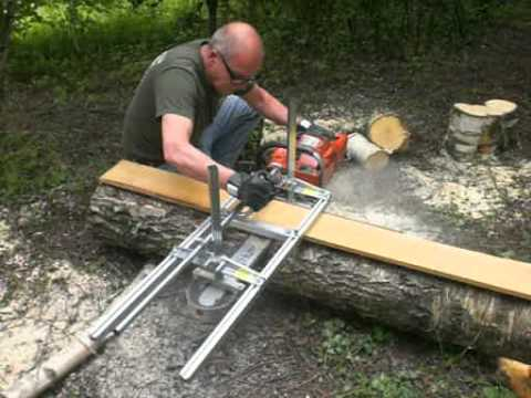 Planken Zagen Met De Alaskan Mkiii Chain Saw Mill En De