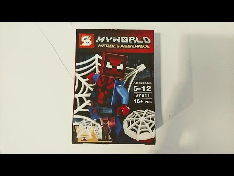 Building Unlicensed Spiderman Knock-Off Legos