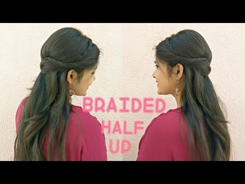 EASY Braided Half Up Prom Hairstyle For Medium Hair