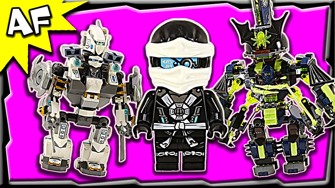 lego ninjago titan mech battle 70737 ghost army stop motion build review youtube