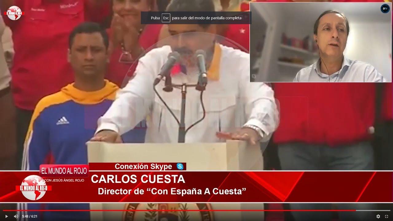 CARLOS CUESTA DESTAPA LOS APAÑOS DE ZAPATERO CON MADURO QUE DEJA A SÁNCHEZ AL BORDE DEL PRECIPICIO