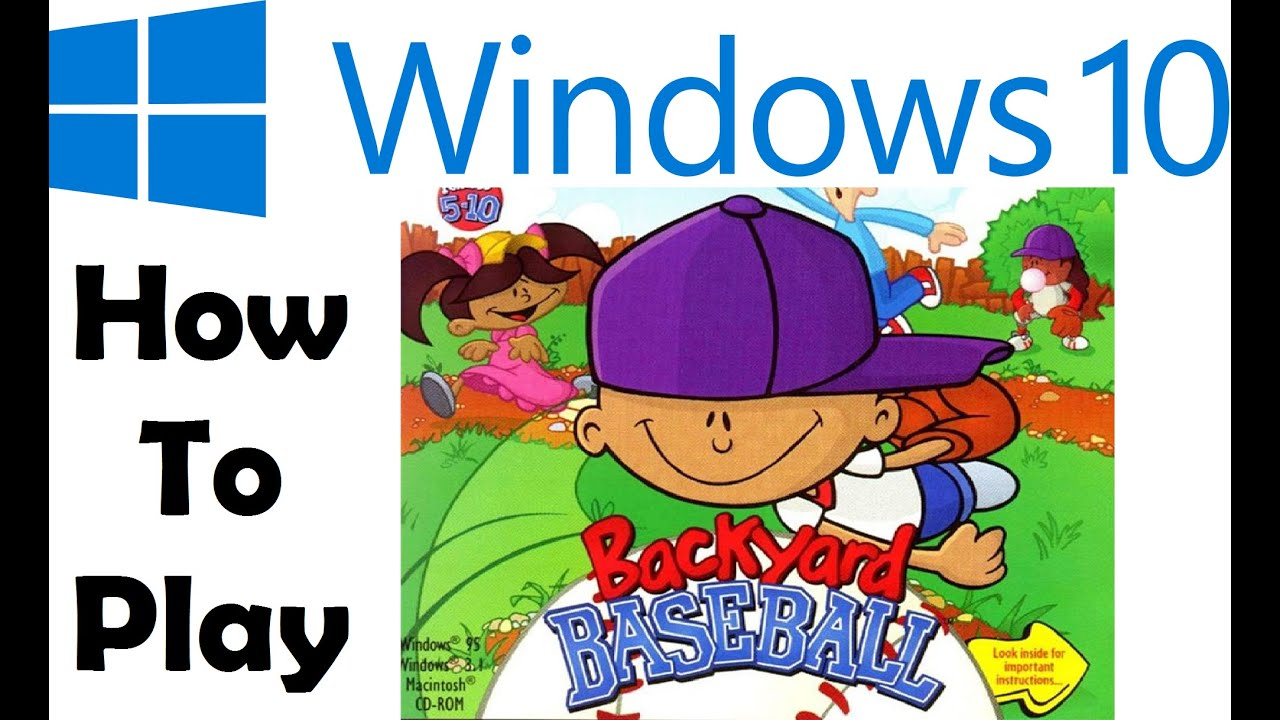 How To Play Backyard Baseball On Windows 10 Youtube