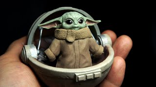 Sculpting Realistic Baby Yoda Sculpture Timelapse - Star Wars The Mandalorian