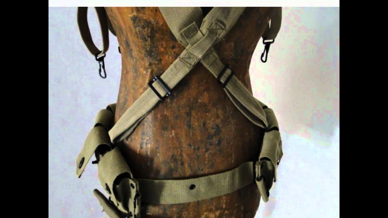 How to attach musette bag to your m1936 suspenders