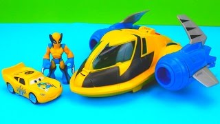 Wolverine Car McQueen & Wolverine take down Imaginext Two Face Playskool custom