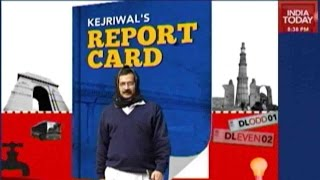 delhis aam aadmi party report card out