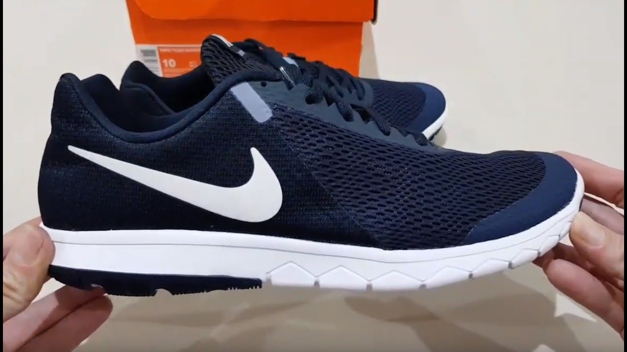 ballena azul habilitar nicotina  Unboxing NIKE FLEX EXPERIENCE RN RUN 6 NAVY BEST LIGHTWEIGHT RUNNING SHOES  (100% ORIGINAL & RESMI) - YouTube