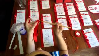 Приготовления к свадьбе своими руками(Видео ролик о том, как потратив небольшое количество времени можно создать красивые пригласительные для..., 2015-04-13T09:35:00.000Z)