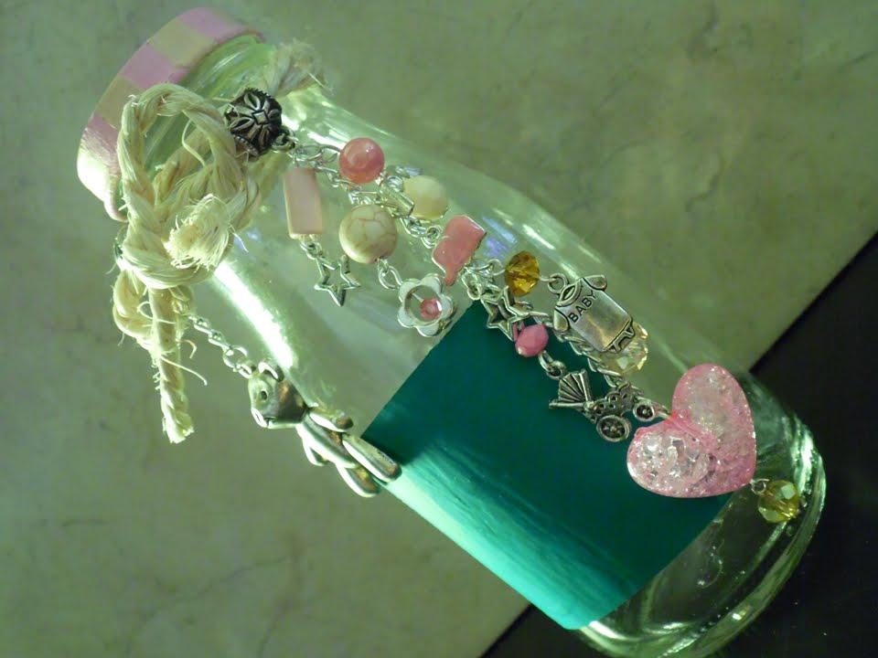 Recuerdo para baby shower botella decorada youtube - Botellas de plastico decoradas ...