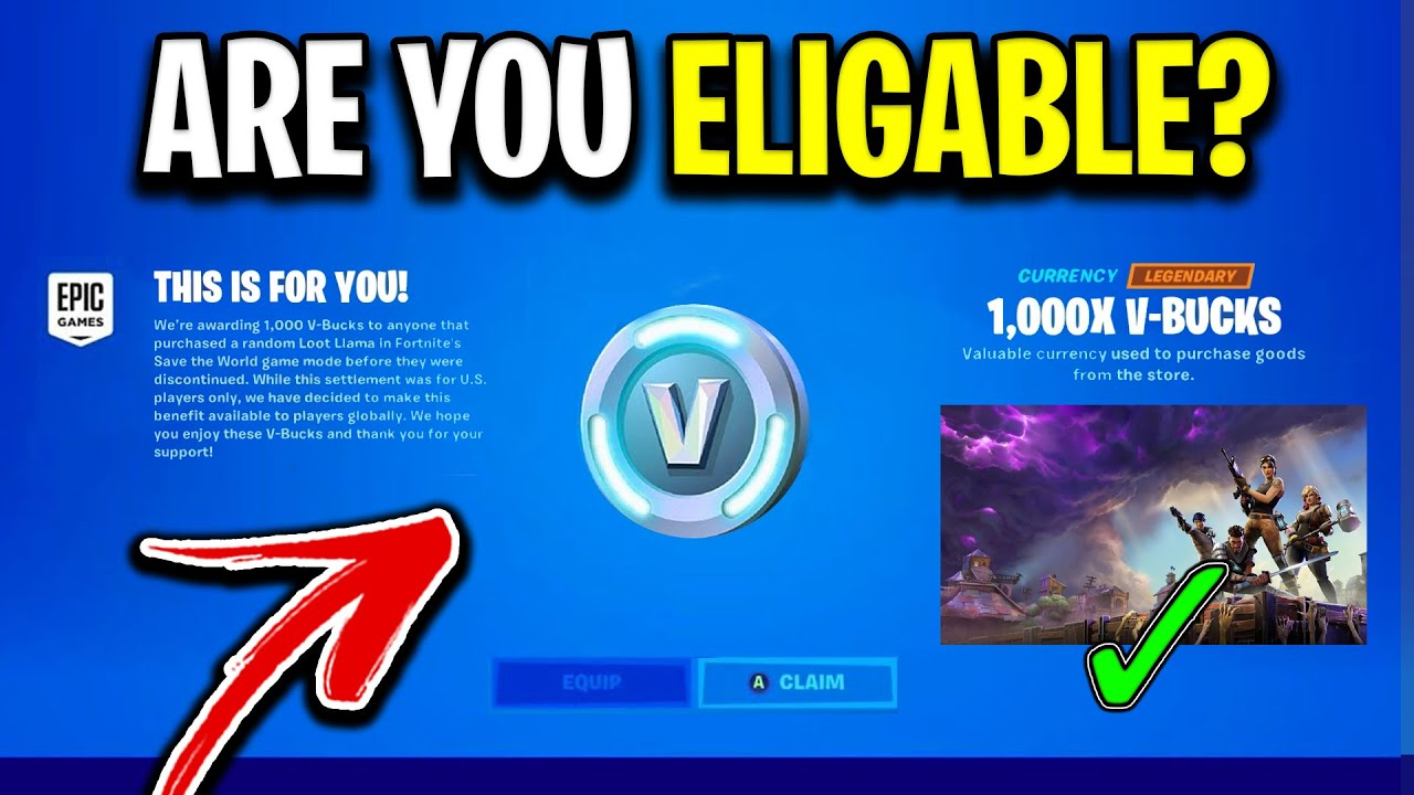 Fortnite Stw Loot Lama You Could Be Eligible For 1000 V Bucks For Free If You Ve Played Fortnite Stw Youtube