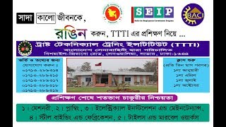 Seip job circular : Training Admission Circular 2018 || All News