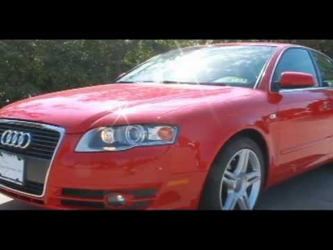 2007 AUDI A4 2.0T QUATTRO RED #103079 DALLAS, TX - YouTube