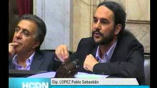 Pablo López sobre la Comisión Bicameral Investigadora