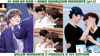X1 KIM YOHAN x SONG HYEONGJUN MOMENTS - YOLEM/ YOSONG MOMENTS (pt.1) // PRODUCE X 101 EDITION