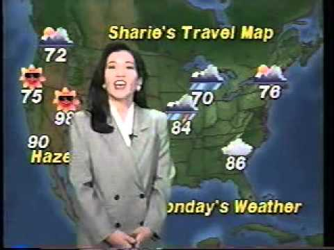 Sharie Shima's first weather report on KITV Hawaii (Sept. 20, 1992)
