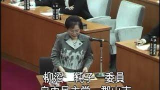 平成28年9月定例会 総括審査会の模様 自由民主党 柳沼純子委員.