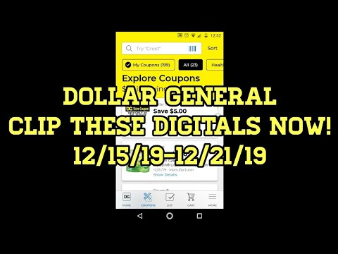 Clip These Dollar General Digitals Now 12/15/19-12/21/19!