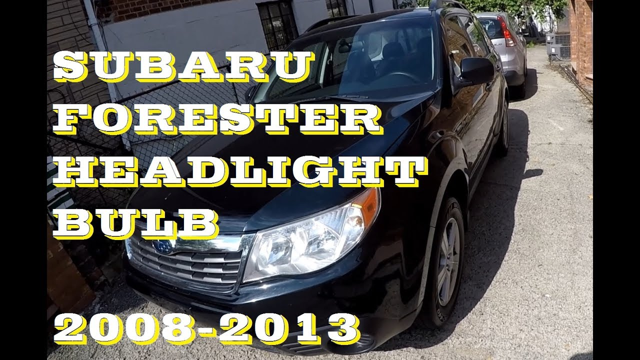 How To Replace A Headlight >> How to change replace Headlight bulb in Subaru Forester ...
