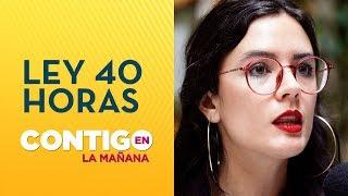 Camila Vallejo y proyecto 40 horas: