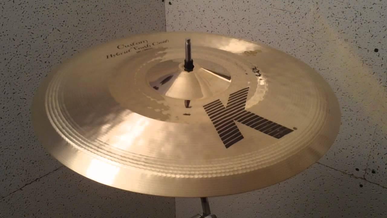 zildjian k custom hybrid trash crash cymbal 15 youtube. Black Bedroom Furniture Sets. Home Design Ideas
