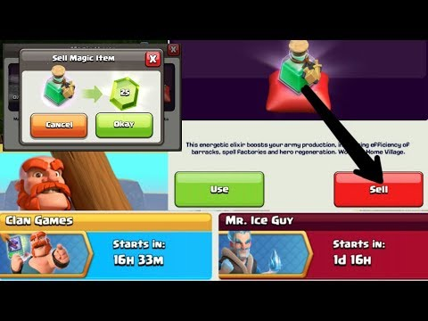 CLASH OF CLANS - WHAT IF YOU SELL CLAN REWARDS - TRAINING POTION & POWER POTION