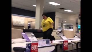 Fat Person Breaks Bed!!