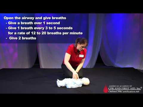 Learn Infant CPR - How to Do Infant CPR