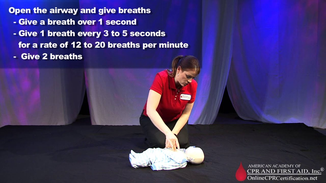 Learn Infant Cpr How To Do Infant Cpr Youtube