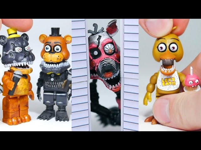 BRICK 101 FNAF roleplay compilation | LEGO + McFarlane Toys Five Nights at Freddys highlights