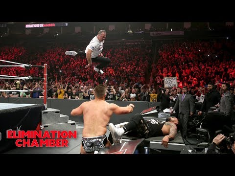Shane McMahon makes wild Coast-to-Coast leap in Tag Team Title bout: WWE Elimination Chamber 2019