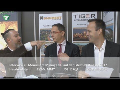Monument Mining im Exklusiv-Interview von der #Edelmetallmesse2017 in München (TSX-V: MMY)