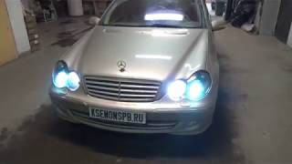 Mercedes-Benz C-klasse II (W203) Ретрофит фар + ремонт блока CAM