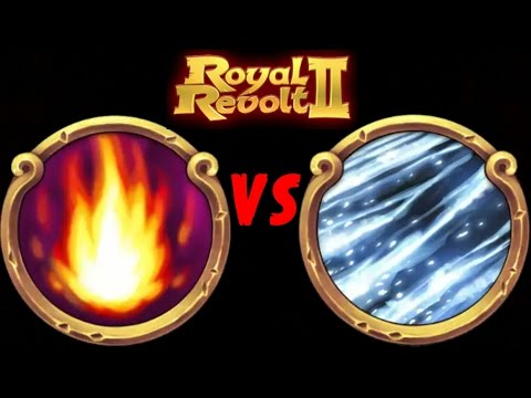 ROYAL REVOLT 2 - FIRESTORM Vs BLIZZARD (spells Test)