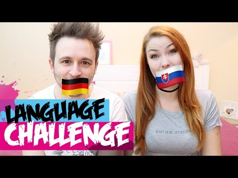 Language Challenge, Slovak vs German | Couple Challenge game, international couple/love