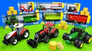 Bruder Tractor And Excavator At Work | Playset Toys For Kids | Tractors In Farming Action