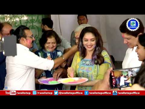 Madhuri Dixit Play Holi With Team And Crew