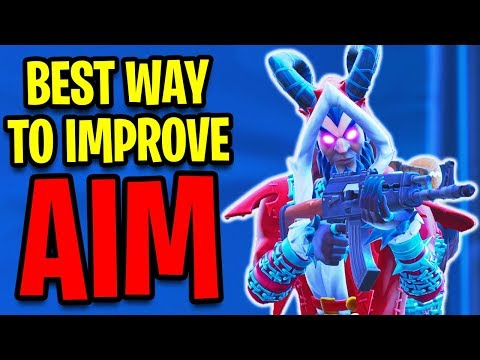 How To IMPROVE AIM in Fortnite! How To AIM BETTER & Find The BEST SENSITIVITY! (Fortnite Aim Course)