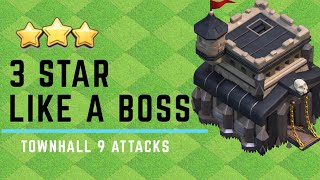 Best Attack Strategies for Townhall 9 | Clash of Clans 2019 | General Elite vs General YouTube