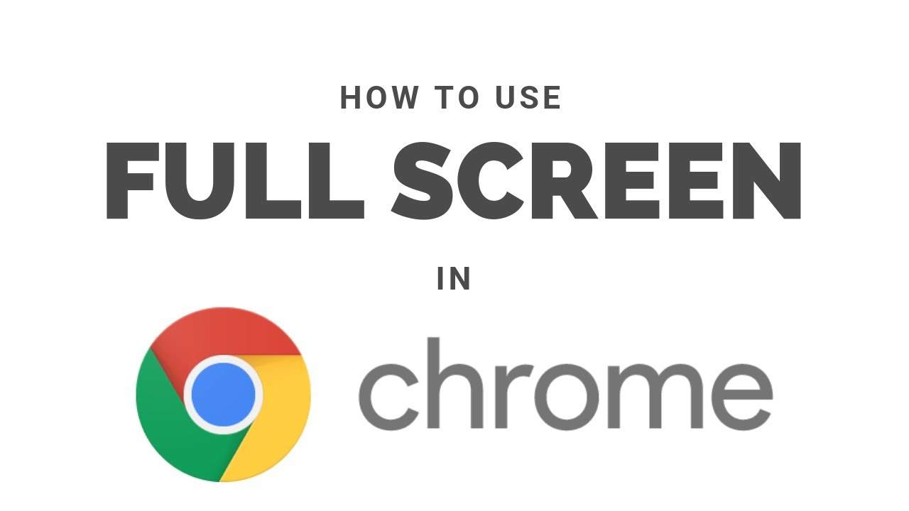 How to Use Full Screen Mode in Google Chrome on Mac