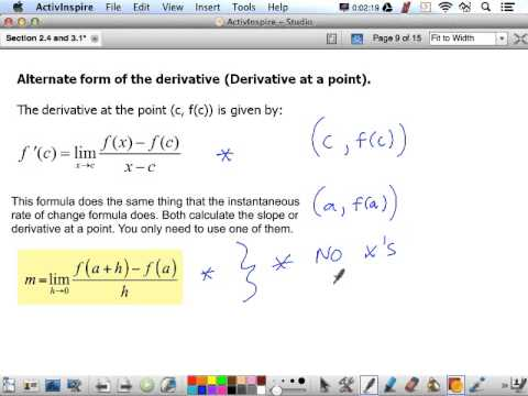Alternate Form of Derivative - YouTube